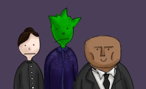 whaticallamadmanwithabluebox:  strax's smile is creeping me out