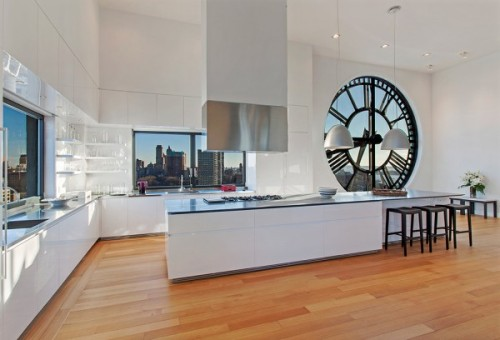 homedesigning:  (via Clock Tower Triplex Apartment in New York)