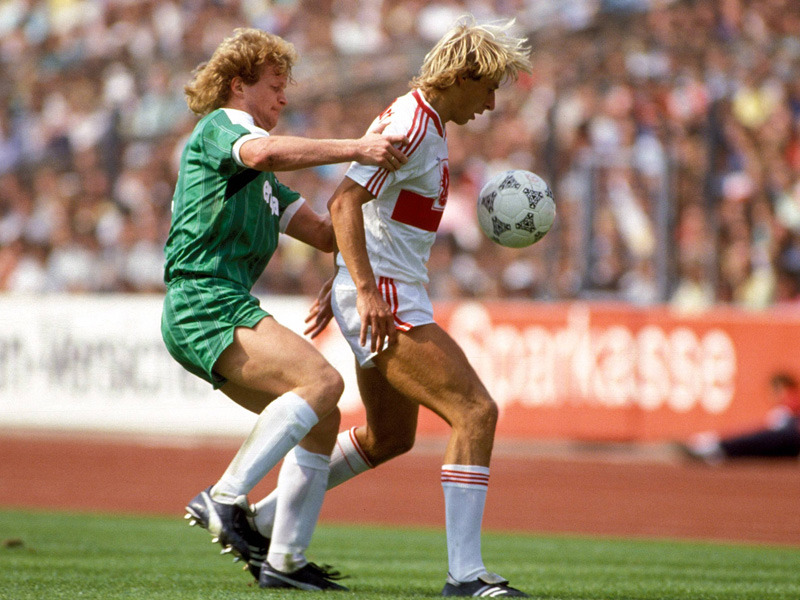 Jurgen Klinsmann, VfB Stuttgart legend (1984-1989).Source: MSN/Kicker