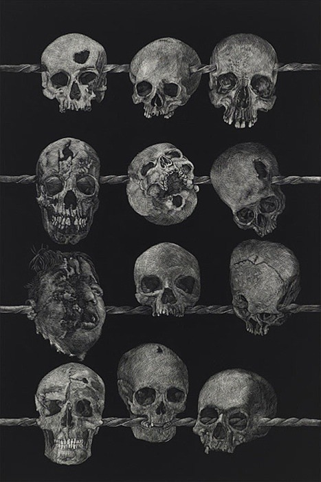 scarsremainopenforever:  Skull Gallery / Satana Diabolus http://thedenimindustry.tumblr.com/ on We Heart It. http://weheartit.com/entry/51187160/via/Fluorescentadolesc_nt