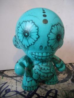 This is a Munny I paintedabout 7 years ago, alot different to what I'm doing now, I was well into my tattoos and day of the dead style art back then. I'm looking at selling it so anyone interested get in touch!