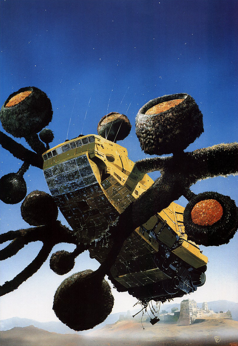 arkhamgel:  Brian Aldiss, the eighty-minute hour   cover by Chris Foss (1987)