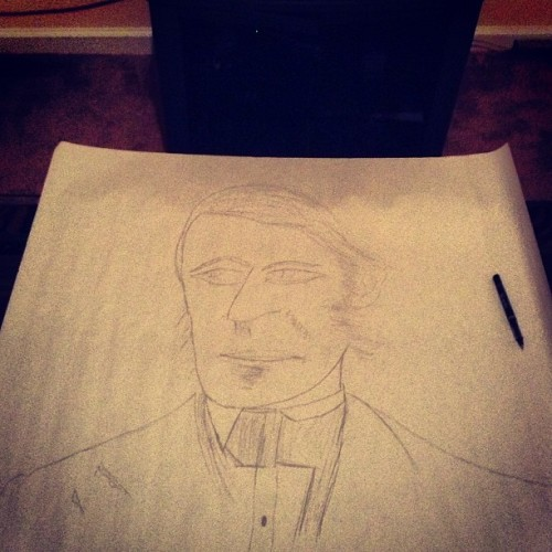 Quick #sketch of Ralph Waldo Emerson. #Drawing #Art #Lit #Project #Transcendalism