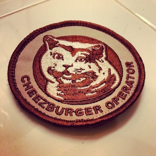 I can haz cheese burger?  #cheeseburger #octactical #tacticool #patch #igmilitia