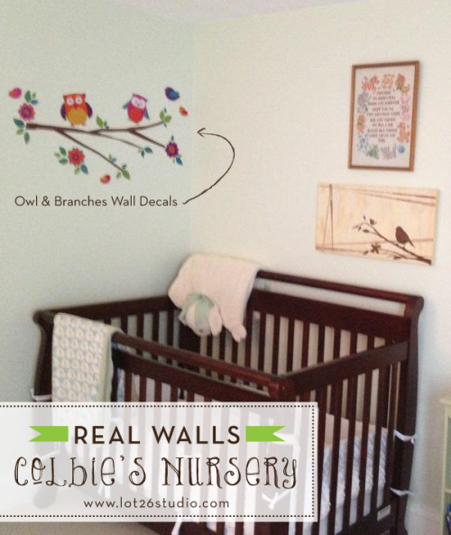 {On the Blog} REAL WALLS - Colbie's Nursery