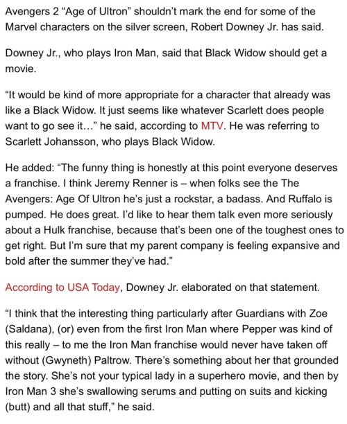buckybernes:  (x) Everyone wants a Black Widow movie.