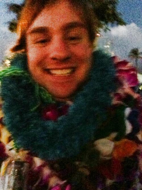 Graduating in Hawaii is always a little more exciting. You get lei'd a lot! :D