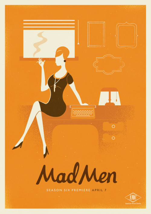 weandthecolor:  Mad Men Season 6 The creative studio Radio created this set of 3 poster illustrations for Mad Men's new season 6. The Cape Town-based studio was established in 2011. From this time forward they had the opportunity to work on great brands, in cooperation with different ad agencies and clients from all over the world. More of the Mad Men Season 6 posters on WE AND THE COLORWATC//Facebook//Twitter//Google+//Pinterest