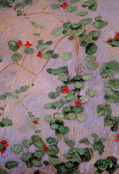 iamjapanese:  Gustave Caillebotte(French, 1848–1894) Nasturtiums   1892 oil on canvas