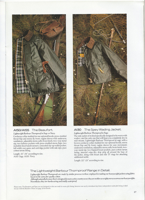 Barbour Catalog 1987 28 on Flickr.Barbour Catalog 1987.  The Jackets- a series.