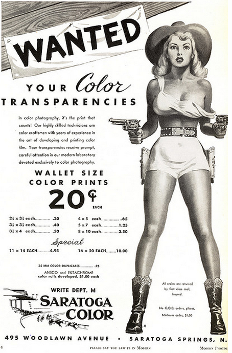 ad from Modern Photography Magazine June 1952.