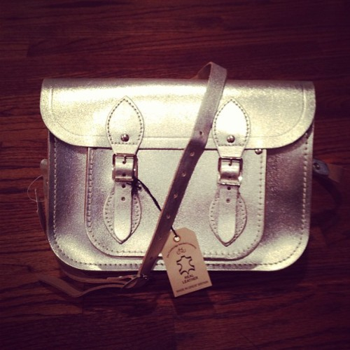 Hello my new friend! Metallic Cambridge satchel! $88 #bloomies #fabfinds #metallic #trends #fashion #shopping #spring13