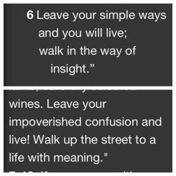 Proverbs 9:6 NIV & MSG  It's that simple. Let go & LIVE! Don't let anything or anyone hold you back.  #Wow