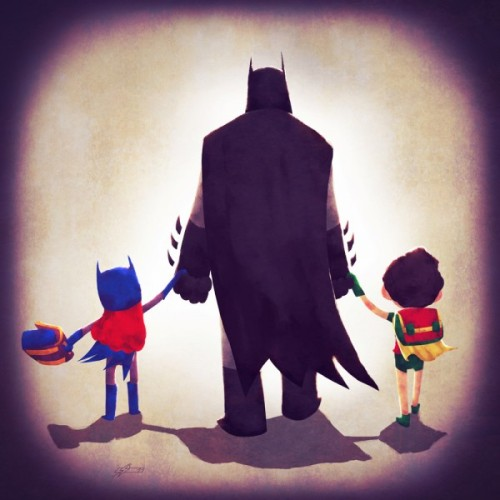 "Batman Family (via ""Pretty Pictures - The Justice Families"" on Bleeding Cool)"