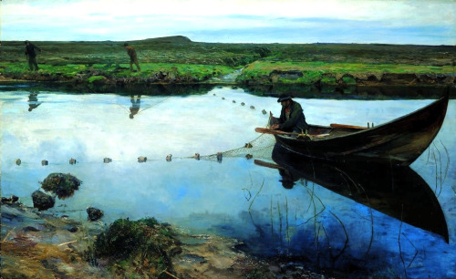 Salmon Fishermen - Eilif Peterssen 1889