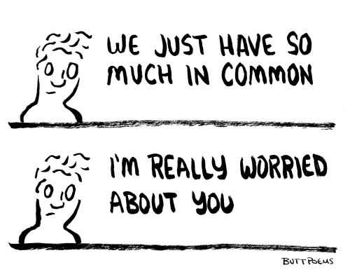A drawing about finding someone you really connect with