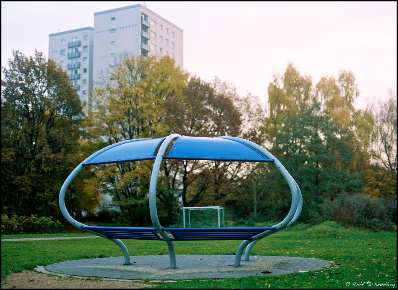 Playground in Atumn. 2012 on Flickr. Zenza Bronica ETRSi (645) 2.8/75 MC on new Kodak Portra 400 @200, developed and scanned by Open-Eyes, Hamburg