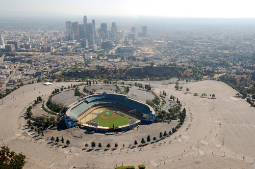 Dodger Stadium, Los Angeles.  Photo credit: h1b