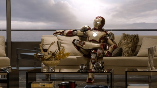Iron Man 3. I liked it more than Iron Man 2, maybe not as much as the original Iron Man, though I don't remember it well at this point. This was definitely funnier than the first sequel, with some Kiss Kiss Bang Bang-ish genre awareness and biting humor. The villains, though, were a letdown, and the silly action spectaculars were kind of a mess. And yeah, it is kind of a feature-length damnation of wearable computing.