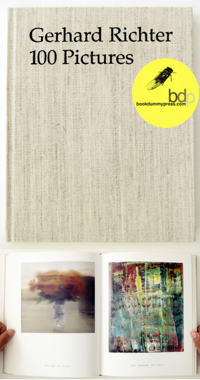Now available at the bdp store... bookdummypress:  100 Pictures by Gerhard Richterhttp://store.bookdummypress.com/product/100-pictures-by-gerhard-richter Concerned with the relationship between painting and the technologically mediated image of photography, 100 Pictures is a faithful reprint of the intimate book Richter created in 1996 as a nontraditional anthology of his oeuvre.