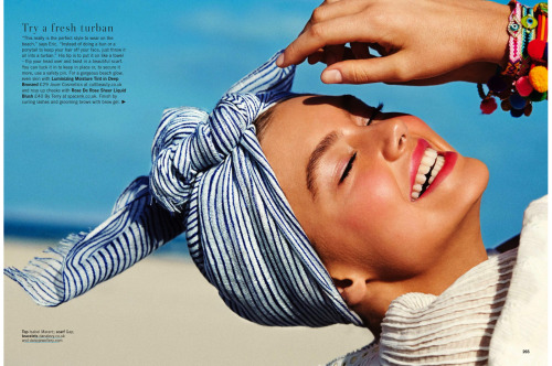 """Hot Beachy Hair"" (+) Glamour UK, June 2013 photographer: Chris Craymer Hanna Verhees"