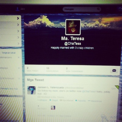 May #twitter account na si Inaaaayyy! Go follow her @ChaTess :)