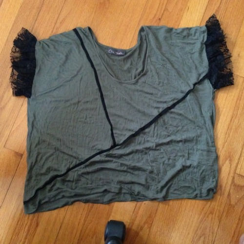 I just added this to my closet on Poshmark: Army green top. (http://bit.ly/YiNiz5) #poshmark #fashion #shopping #shopmycloset