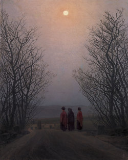 aleyma:  Caspar David Friedrich, Easter Morning, c.1828-35 (source).