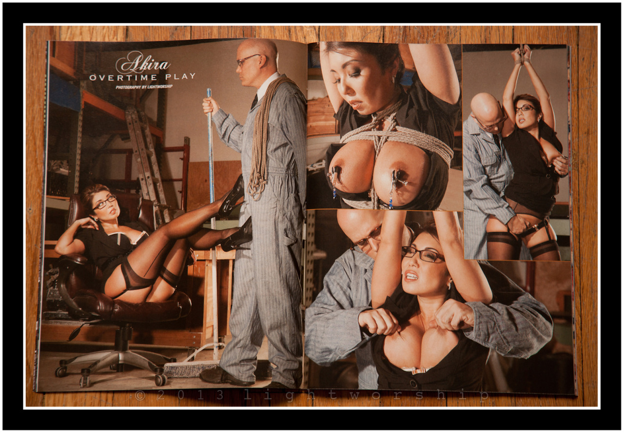 Akira Lane in the May 2013 issue of Hustler's Taboo Magazine On Sale Now! ©2013 LIGHTWORSHIP-