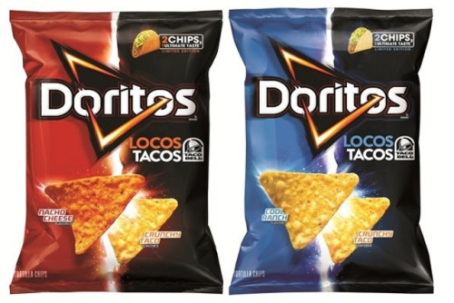 laughingsquid:  Self-Referential Doritos Locos Tacos Chips, Based on Taco Bell Tacos  Uhh mind fuck.