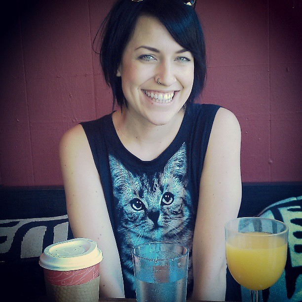 All I need in life: Jenni, bottomless mimosas, water and caffeine.