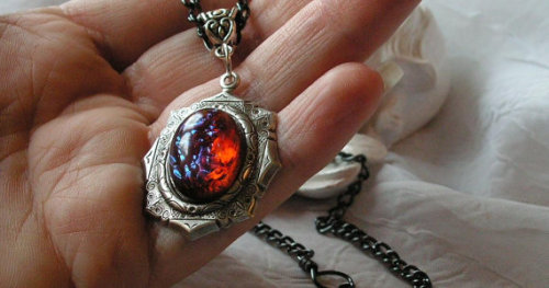 hoplophilia:  Dragon's Breath is a very gorgeous type of opal made into many types of jewelry.