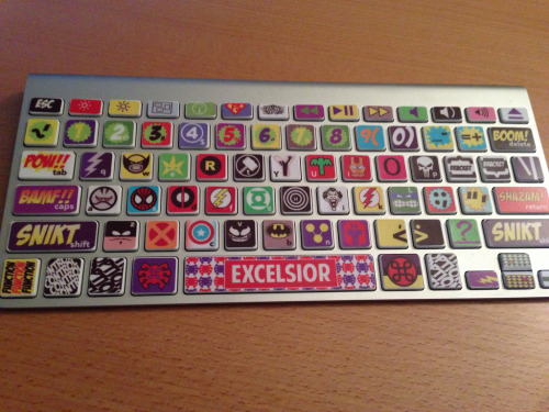 Comic Keyboard Stickers by DanBenjamin http://flic.kr/p/eheZbZ