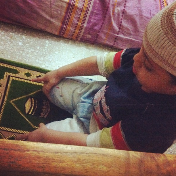 #naik #baby #praying or #posing <3
