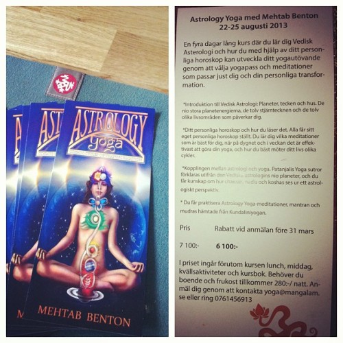 Astrology yoga with Mehtab in Sweden!! It's ALL happening. ✌🌞🌜 #astrology #yoga #kundalini #mehtabbenton #dagås #mangalam