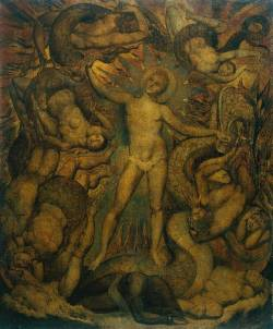 'The Spiritual Form of Nelson Guiding Leviathan', William Blake, c. 1805-9.