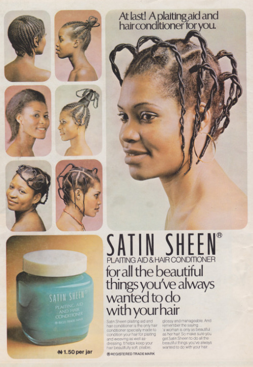 nigerianostalgia:  Hair cream advert in the 80s (₦1.50?!!)Vintage Nigerian photos