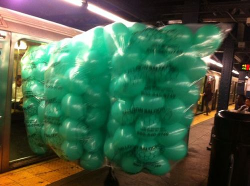 wnyc:  This May Be the Largest Item Ever Carried On a NYC Subway  I can't decide if this sight would be part of the best commute ever or the absolute worst one. -Emily