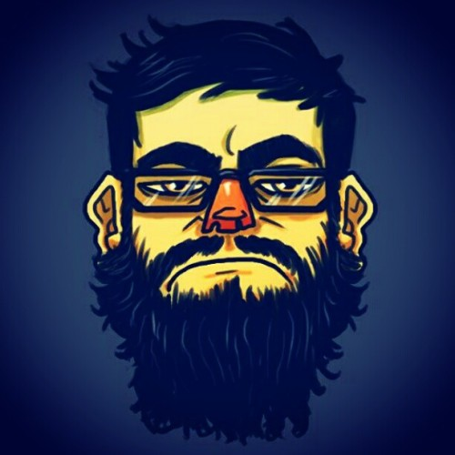 monstrbox:  Self Doodle (: #doodle #drawing #cartoon #monstrbox #beard