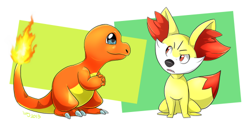 Charmender and Fennekin