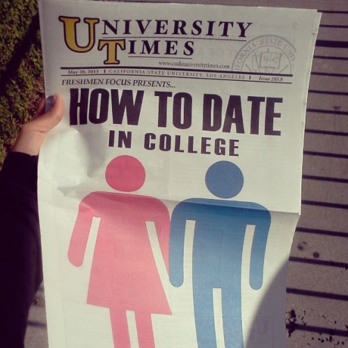 Because no one knows how to #lol #seriously ? #csula #sarcasm #HowToDate #UniversityTimes #joke #newspaper