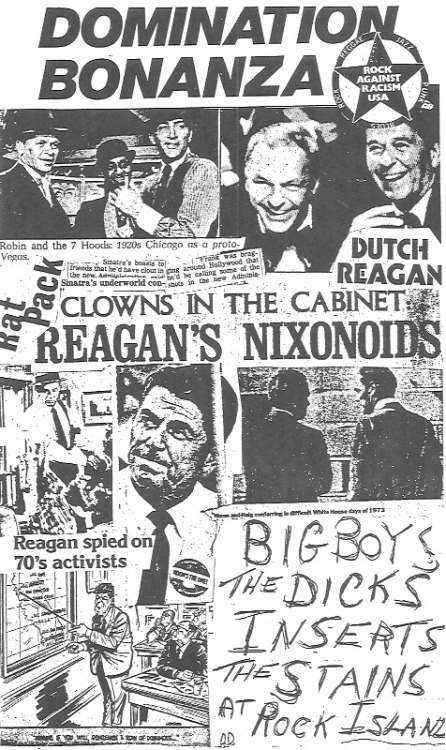 Another punk rock flyer from the 80's Big Boys, Dicks, Inserts, Stains