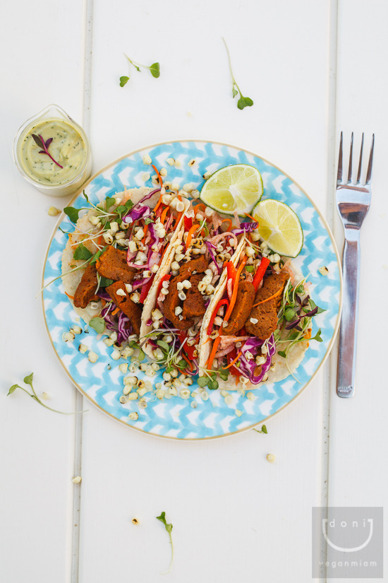 vegnews:  So cool and so colorful, these Chipotle Seitan Tacos with Jicama Slaw & Charred Corn are the stuff vegan dreams are made of. Click here for the recipe!