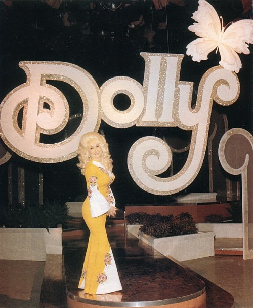 Dolly Parton on the set of The Dolly Show. 1976.