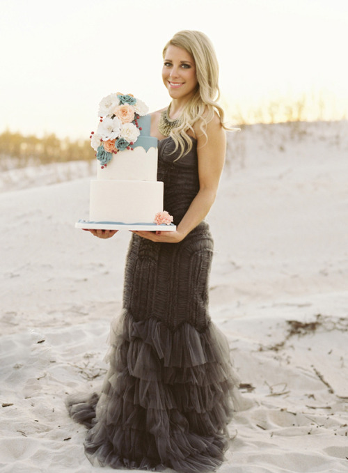 Lani Elias Fine Art Photography; cake by Jenna Rae Cakes; dress from Bliss Bridal Boutique