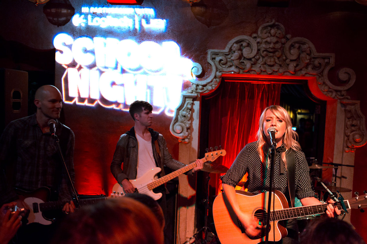 Alexz Johnson plays School Night at Bardot in Los Angeles. December 3, 2012.