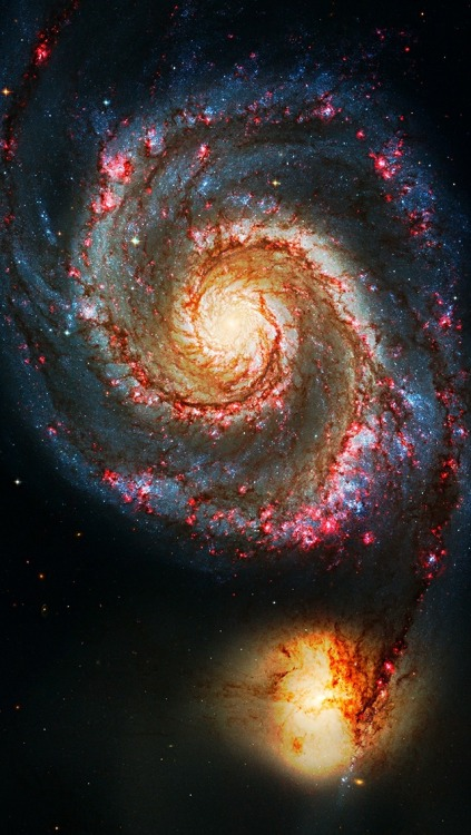the-other-time-lord:  Messier 51: The Whirlpool Galaxy