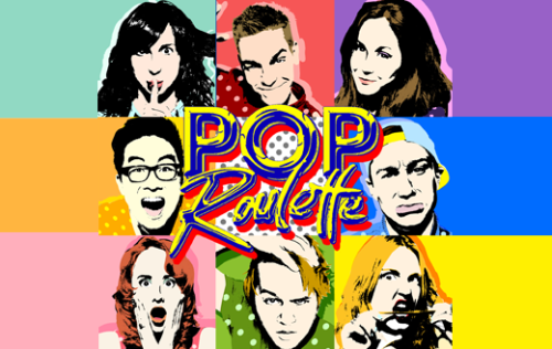 thepit-nyc:  Pop Roulette musical sketch comedy is back tonight at 9:30pm!  Musical sketch comedy is a collection of short scenes…with music!  Music was invented by Beyonce. Beyonce was invented by Pop Roulette.  Featuring: Sudi Green, Lauren Ireland, Luke Marinkovich, David Mizzoni, Tess Niedermeyer, Matt Rogers, Amanda Shechtman, Tessa Skara and Douglas Widick. Photo by Sasha Israel Photography   Yo. I'm in this. The picture proves it even if the cast list doesn't. Also, Sasha Israel is my graphic design alias (False).