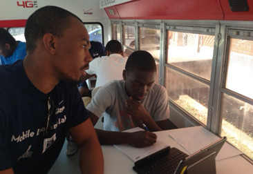 "Mobile Learning Lab Helps Students Achieve College Dreams What Washington, D.C., 12th grade student Ugonna Onyeukwu looked forward to most each week was his second period class on Wednesdays. Unlike other days, when he'd quickly make his way through the busy hallways of Calvin Coolidge High School, transitioning from one advanced course to the next, Wednesday mornings represented something different for Ugonna.  He didn't have to worry about taking notes during a lecture or lab, completing the required reading, or preparing for an upcoming quiz, midterm or final exam. In fact, he didn't even have to worry about what grade he would earn because there was no teacher evaluating his performance, per say. But doing well in this course carried even more weight for him than earning an ""A"" grade because it would determine where and if he got accepted to college. Ugonna was one of more than 40 students in the District of Columbia to participate in the Mobile Learning Lab special class during the 2012-2013 academic year. And like all his fellow participants at Coolidge, his hard work over the course of nine months paid off. He was accepted at a four-year college, receiving notification from his dream school, Penn State. To read the rest of Ugonna's story and find out more about Verizon's Mobile Learning Lab click through."