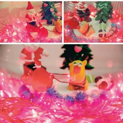#Xmas #clay #decoration #holiday lights #Christmas #Santa #raindeer #gifts #presents
